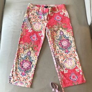 Patterned capris from J. Crew